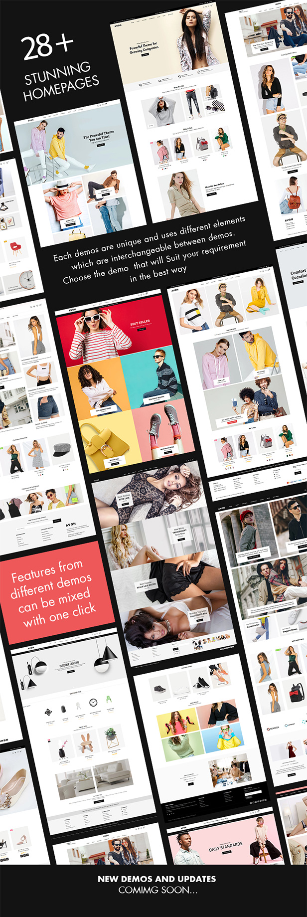 Avone Shopify Theme Demos