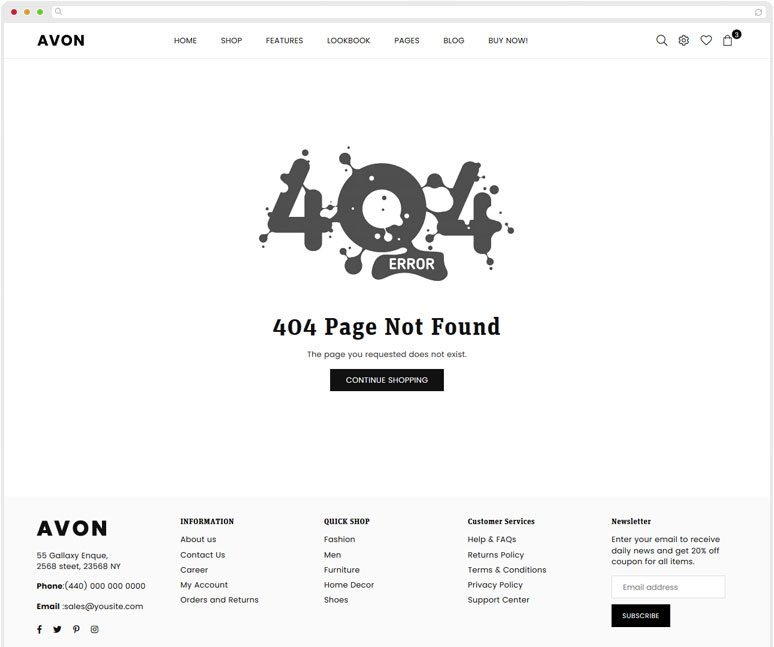 404 Not Found Page