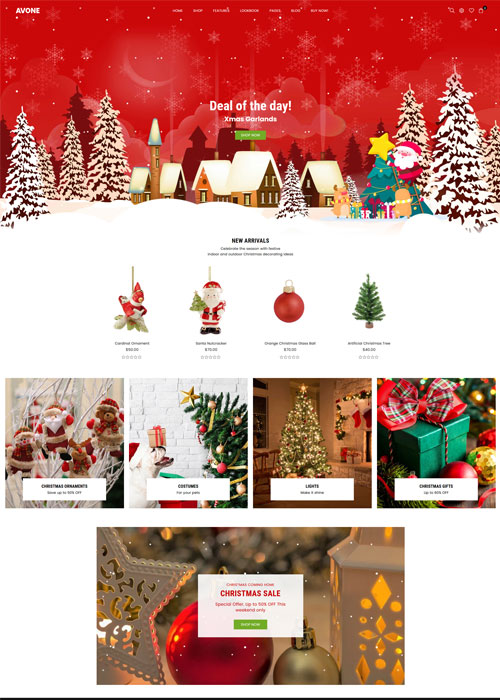 Avone Theme Christmas Demo