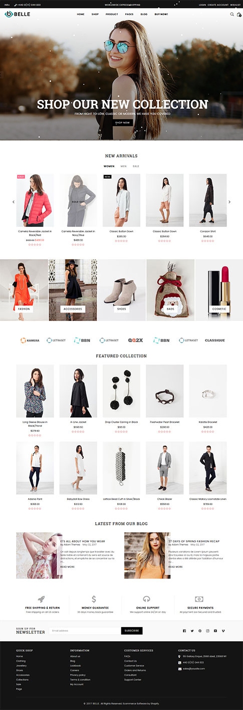 Belle Classic Shopify Theme
