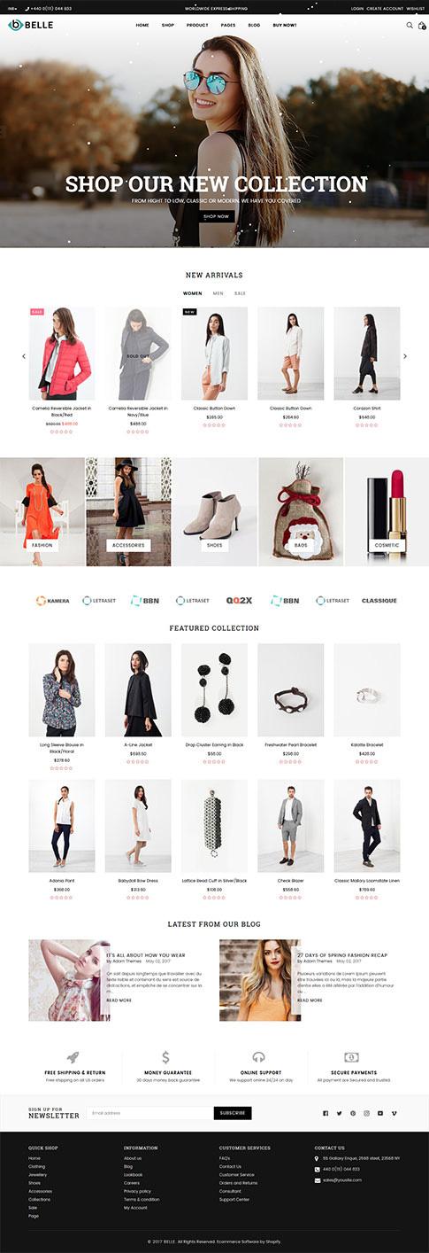 Belle Classic Shopify Theme