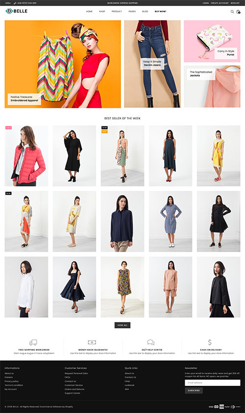Belle Minimal Shopify Theme