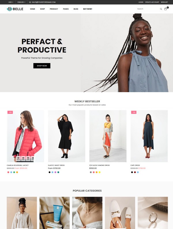 Belle Default Shopify Theme