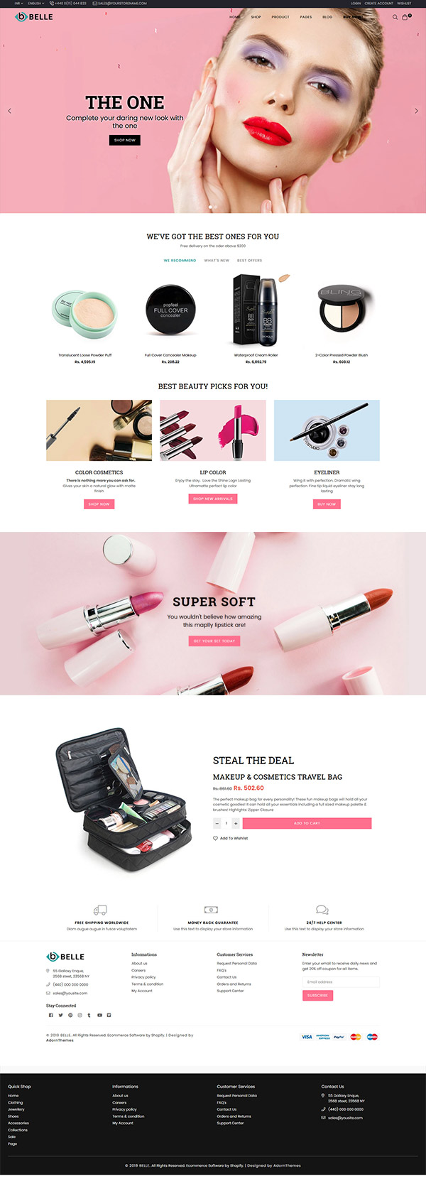 Belle Cosmetic Shopify Theme