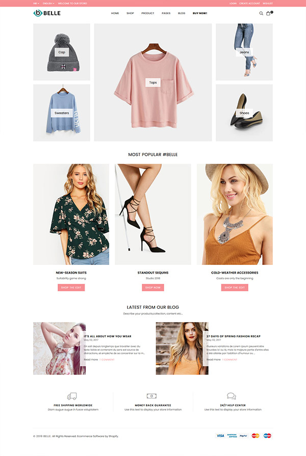 Belle Modern Shopify Theme