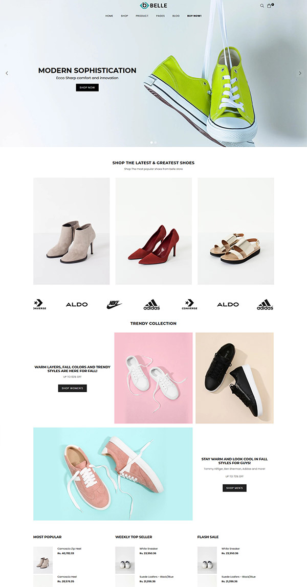 Belle Shoes Shopify Theme