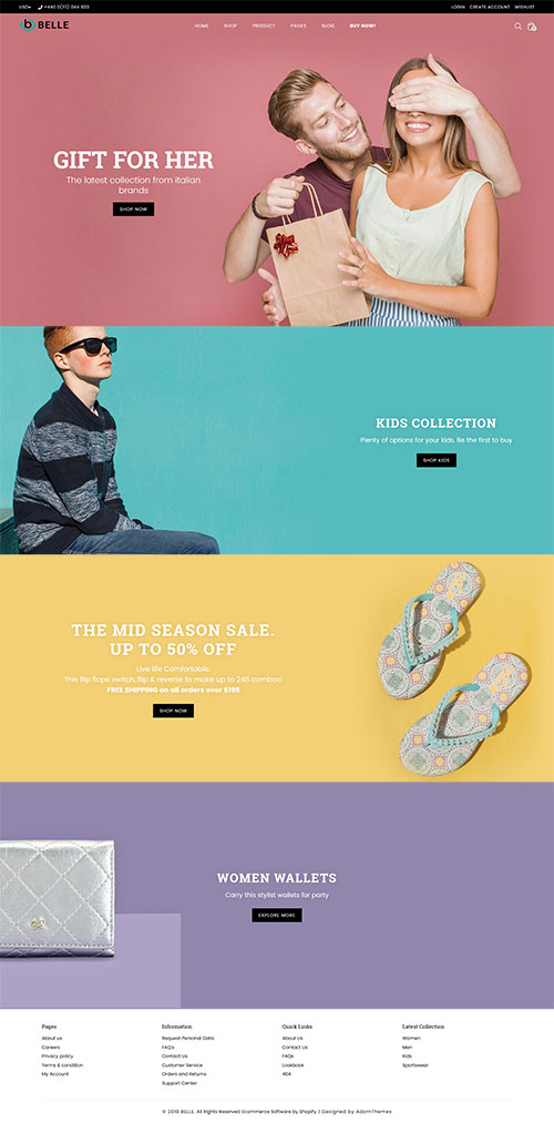 Belle Parallax Shopify Theme