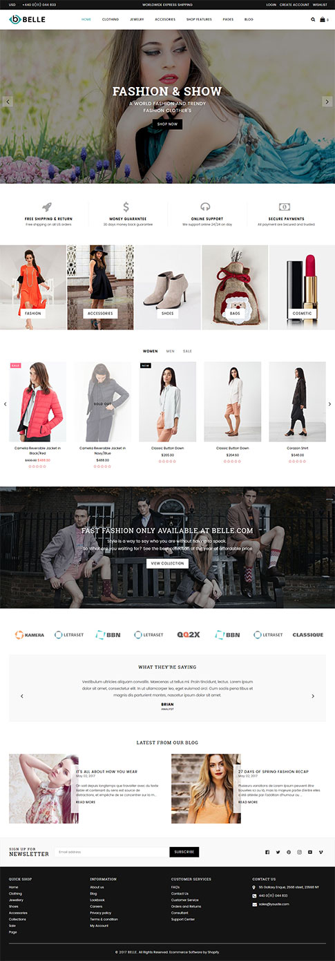 Femiza Fashion Shopify Theme