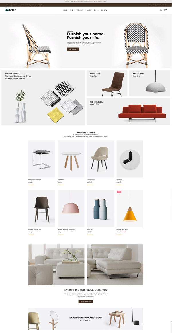 Belle Furniture Shopify Theme