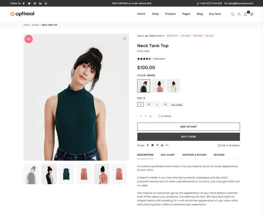 Product page Layout 3