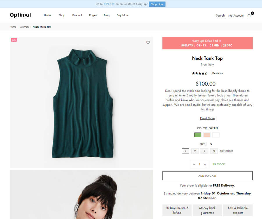 Product page Layout 4