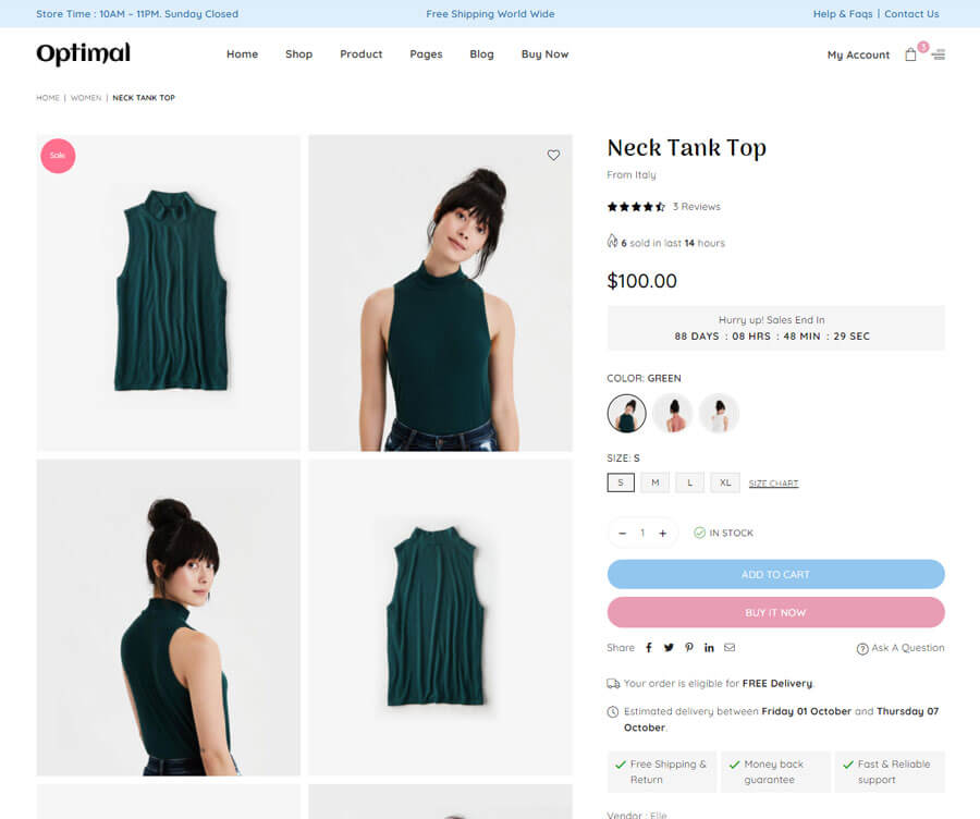 Product page Layout 5