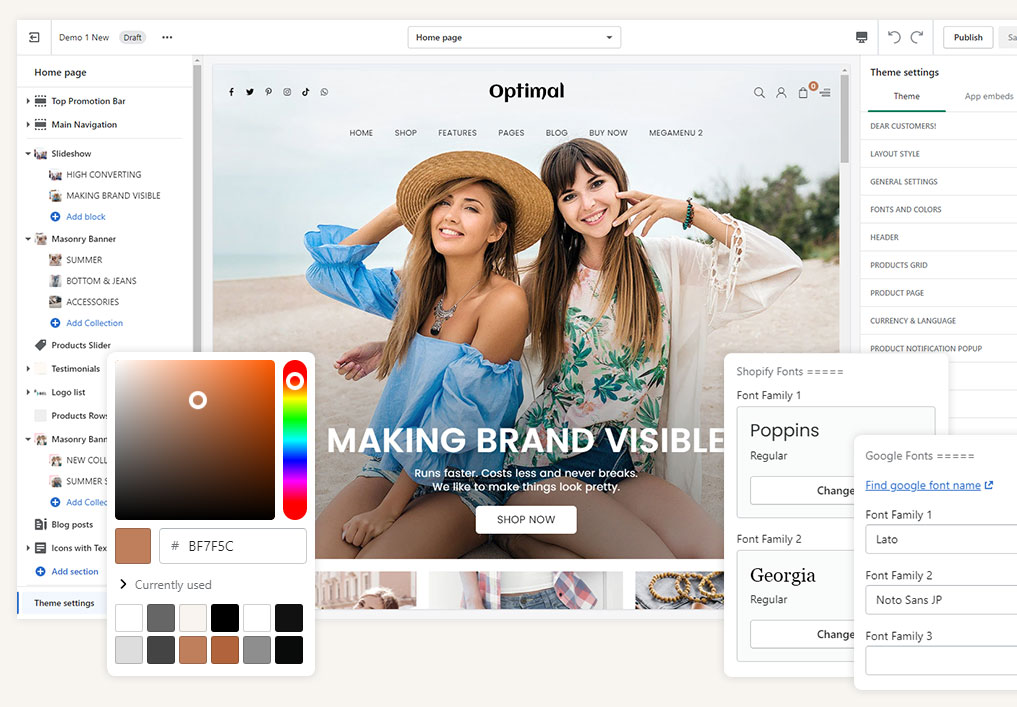 Highly Customizable Shopify Theme