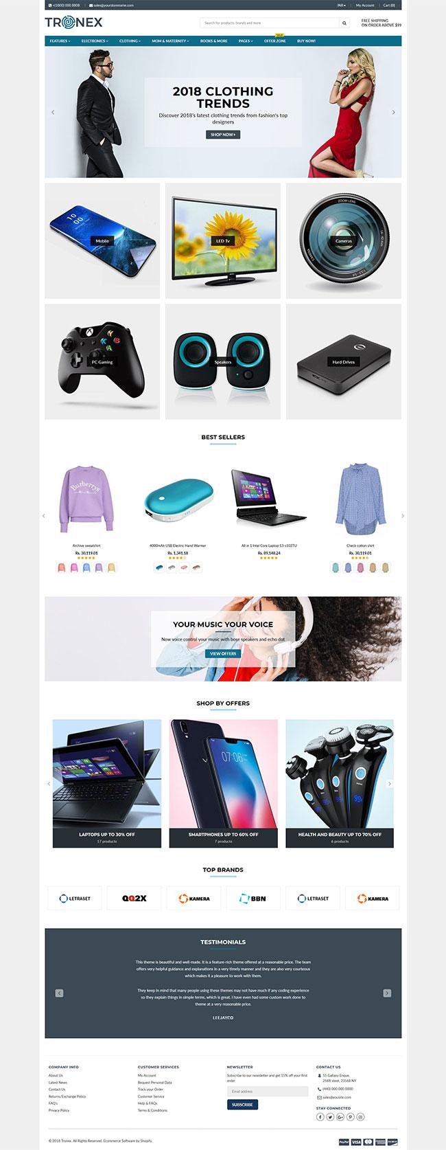 Tronex Shopify Theme