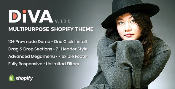 Diva Minimal and Modern Shopify Theme