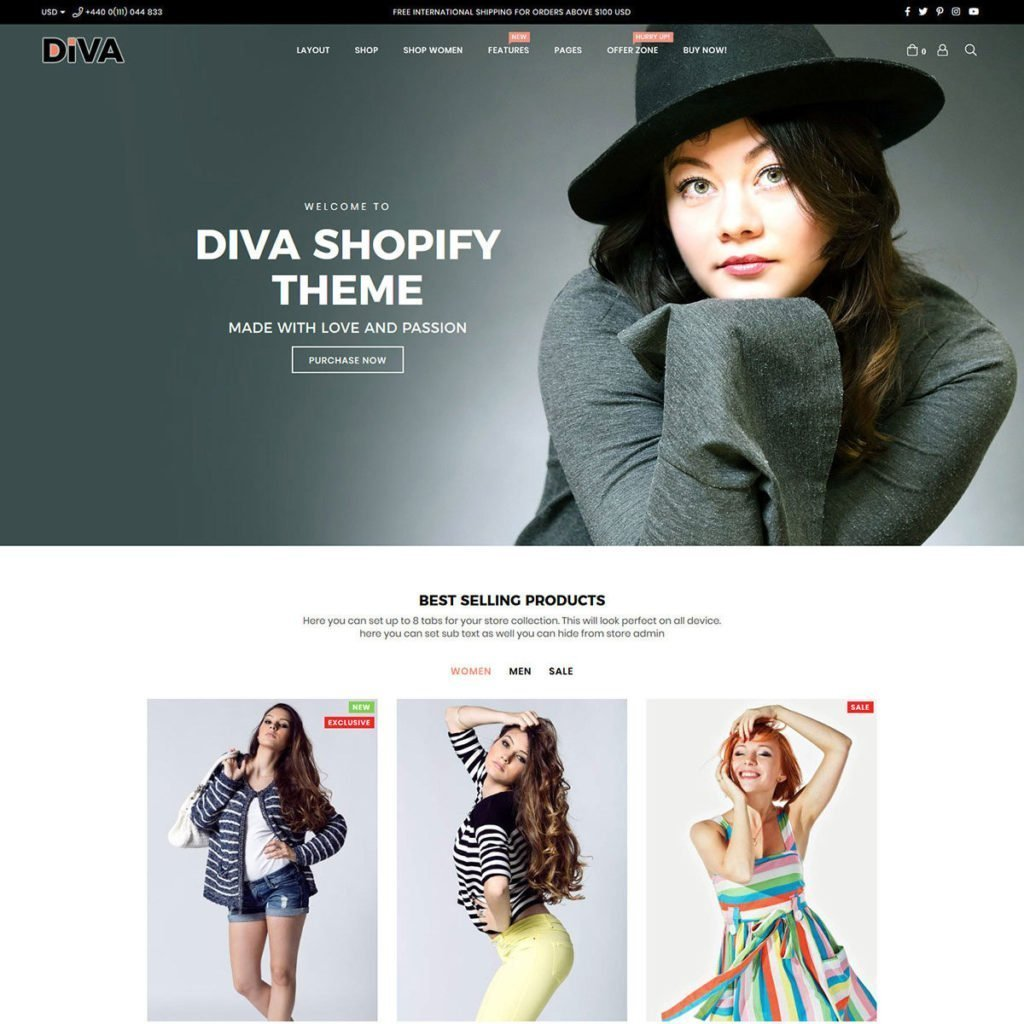 Free Themes For Shopify