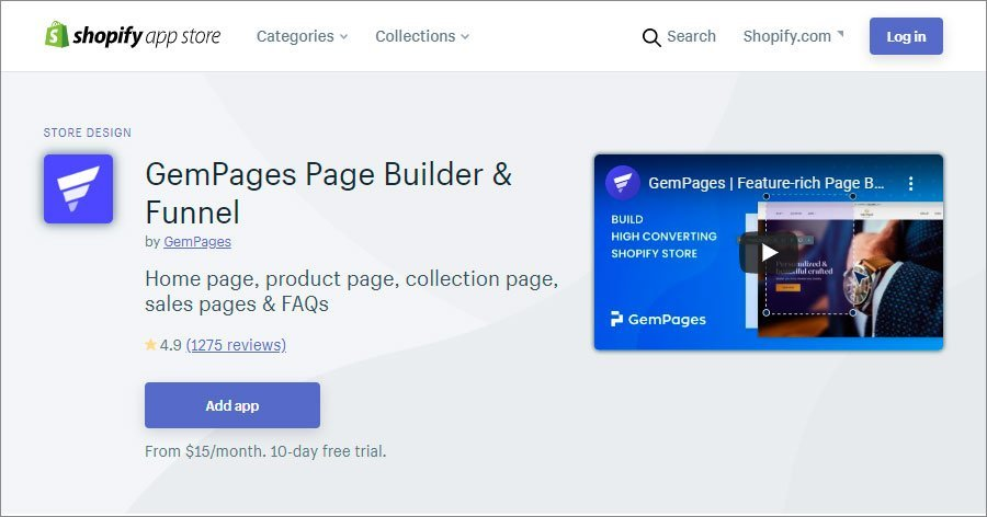 GemPages Page Builder & Funnel