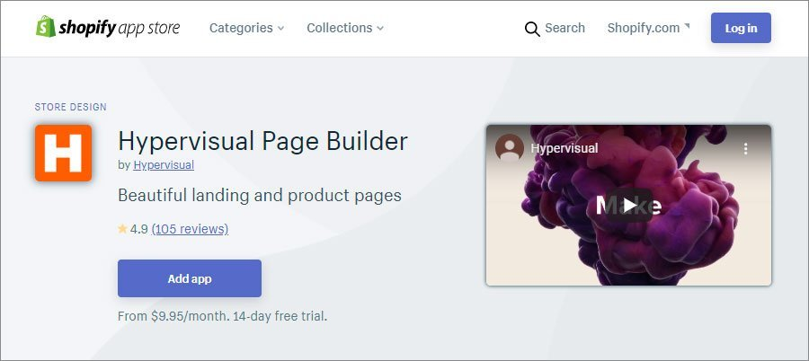 Hypervisual Shopify Page Builder